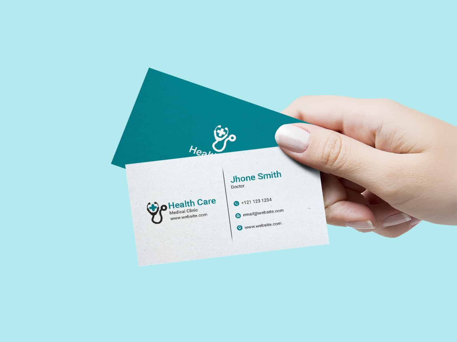 Doctors Business Card Medical Business Card Medical Business Card Design Free Business Card Templates