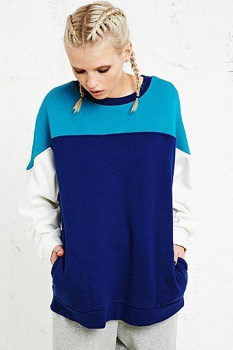 Silence + Noise Sporty Colour Block Sweater