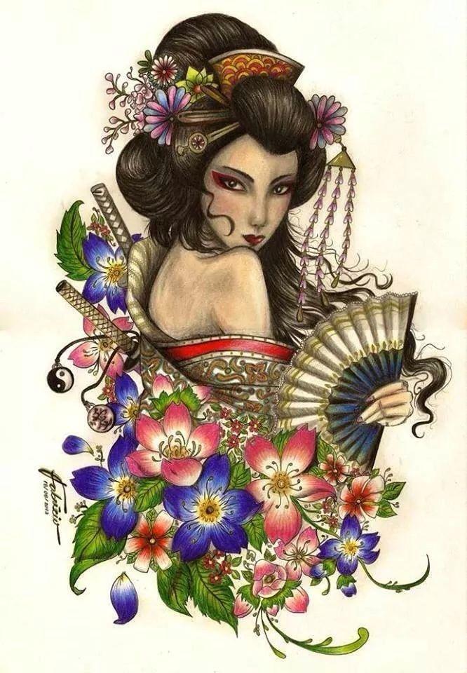 Small Female Japanese Tattoos