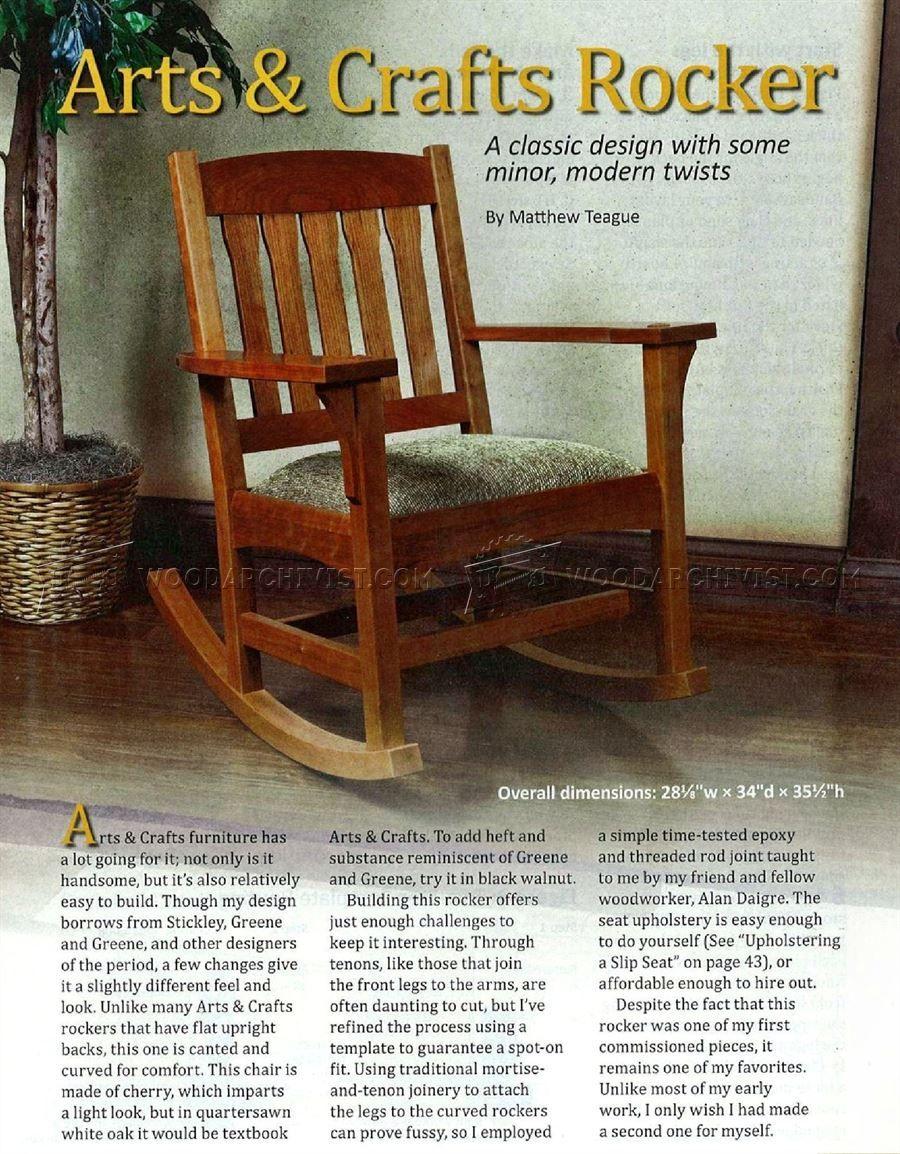 339 Arts Crafts Rocking Chair Plan Furniture Plans Rocking Chair Plans Rocking Chair Arts And Crafts