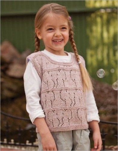Free Knitting Patterns: Free Knitting Pattern: Girl Sweater, Tea ...