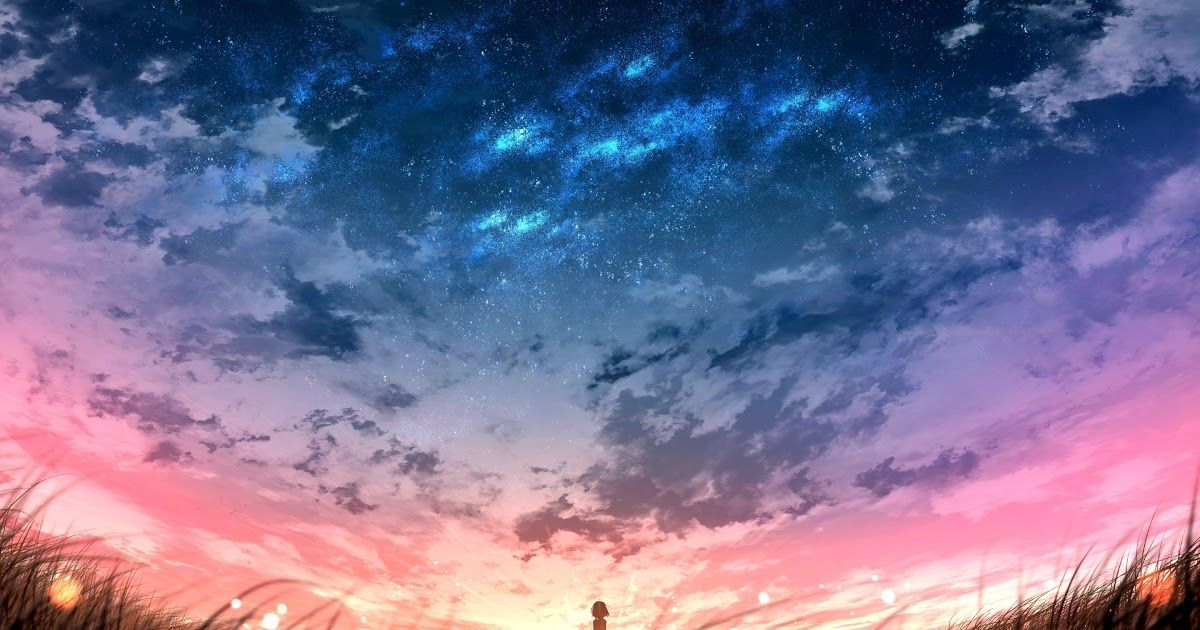 31 Anime Scenery Wallpaper Iphone Hd Download 2880x1800 Anime Landscape Sunset Plants Field Download In 2020 Anime Scenery Anime Scenery Wallpaper Scenery Wallpaper
