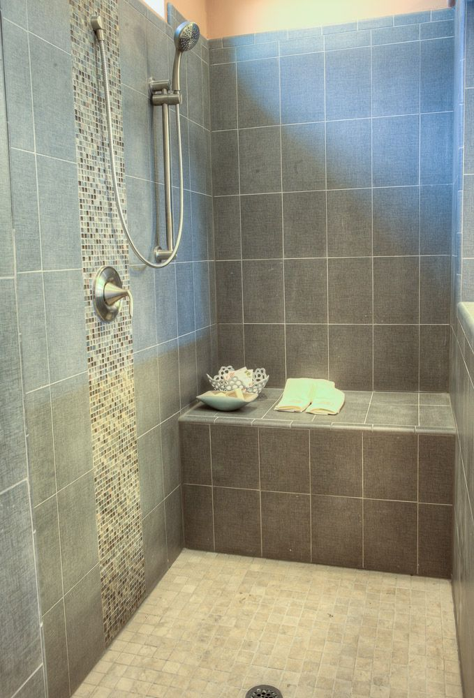 In the master bath, the Malibu\'s huge, ceramic tiled shower with a ...