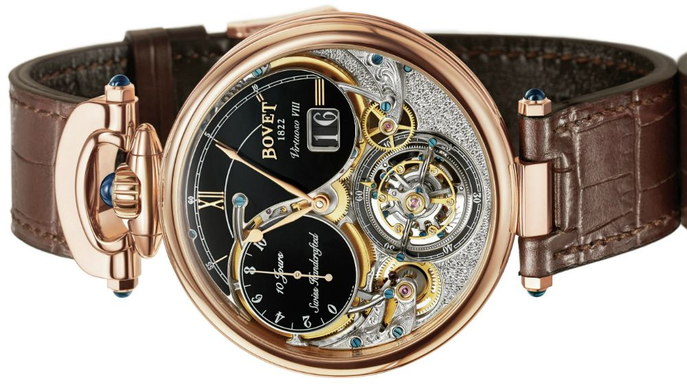 The new Bovet Virtuoso VIII Flying Tourbillon Big Date watch with images,  price, background, specs,   our expert analysis. Find this Pin and more ... 2ce29d78123