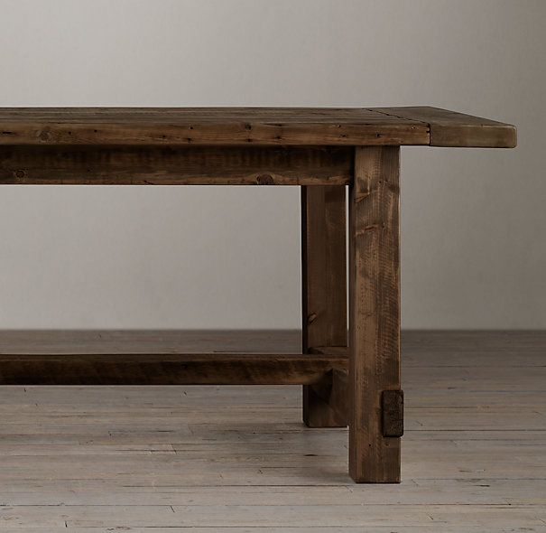 "Best of Salvaged Wood Farmhouse Rectangular Extension Table $3000 120""L x 41""W x 31""H extends to 150""L with two 15"" leaves Pictures - Simple refurbished wood table Unique"