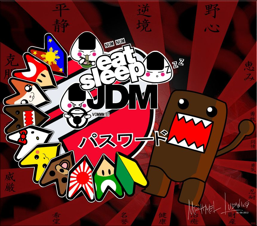 Eat Sleep Jdm Jdm Stickers Japanese Cars Jdm