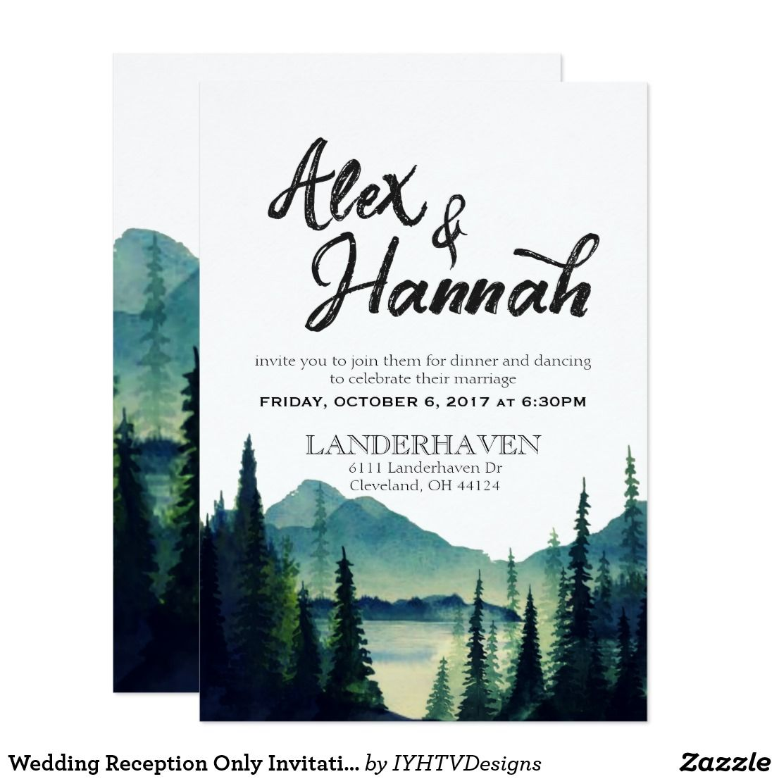 Wedding Reception Only Invitation Wording