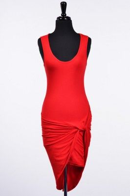 Sleeveless Knotted Dress | Rumor Apparel | Use coupon code PIN10 for 10% Off!!!