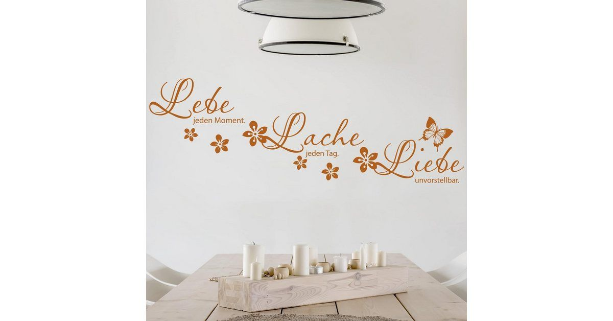 "Photo of Wall decal ""Live every moment"""