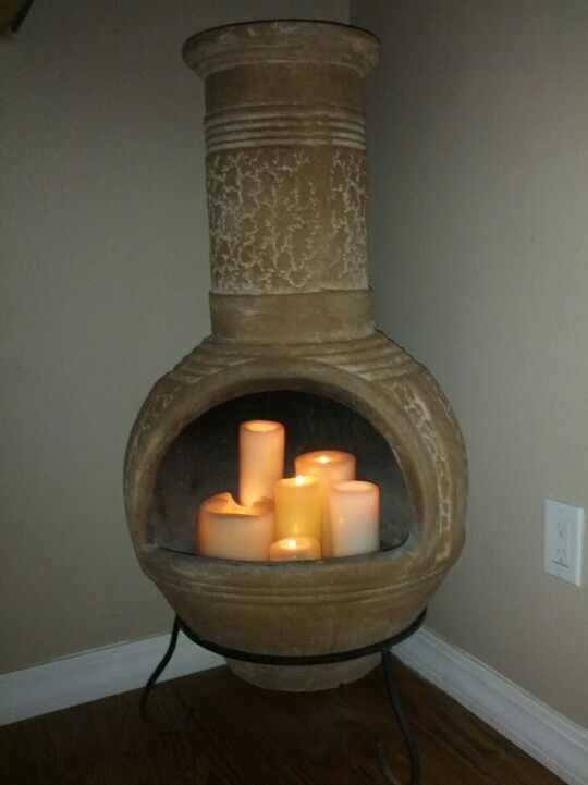 Use Candles Instead Of Fire For Your Chiminea Candles In