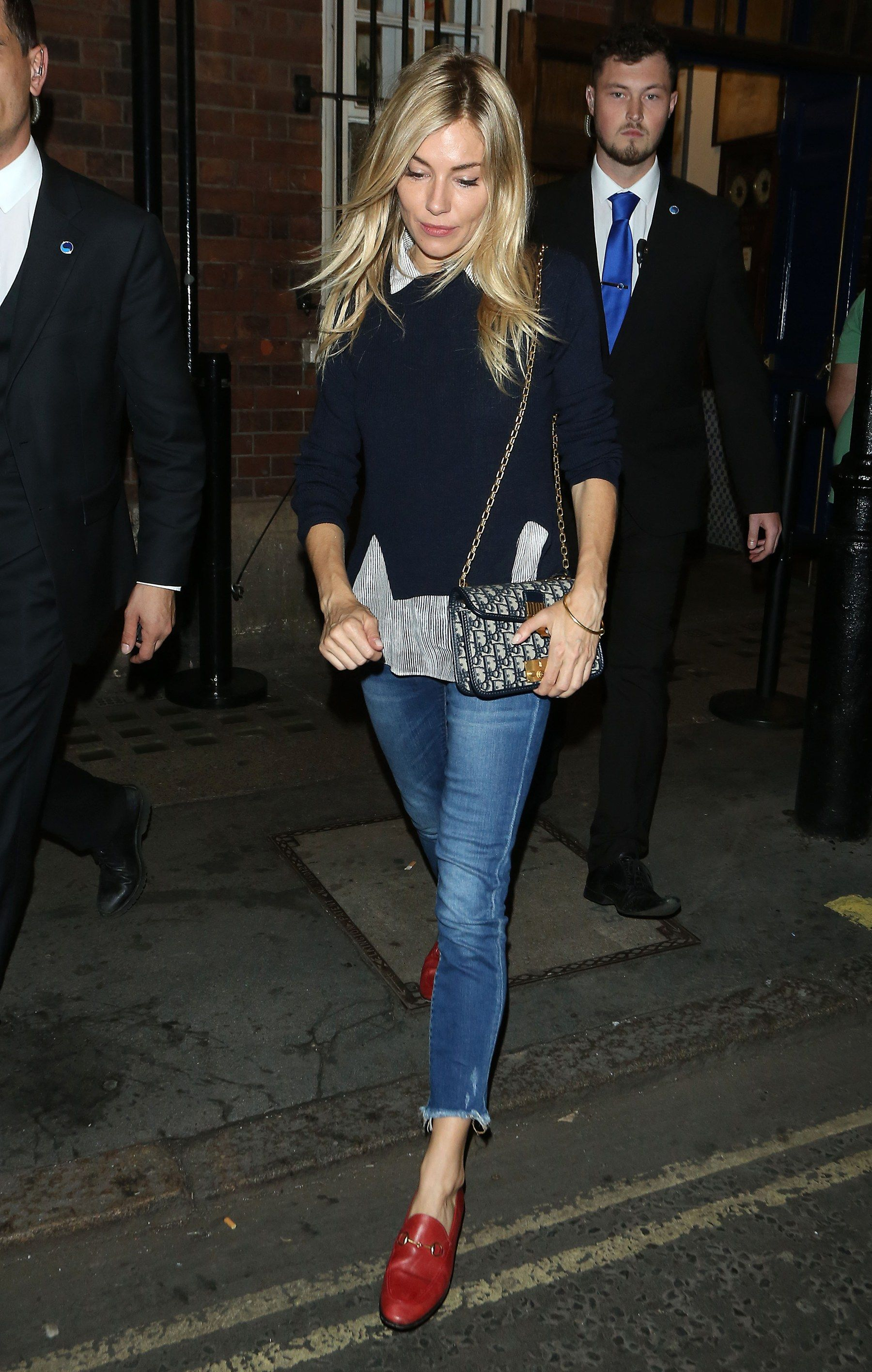 6dafaa6fccaa Sienna Miller Has The Cooler Alternative to the Gucci Fur-Lined ...