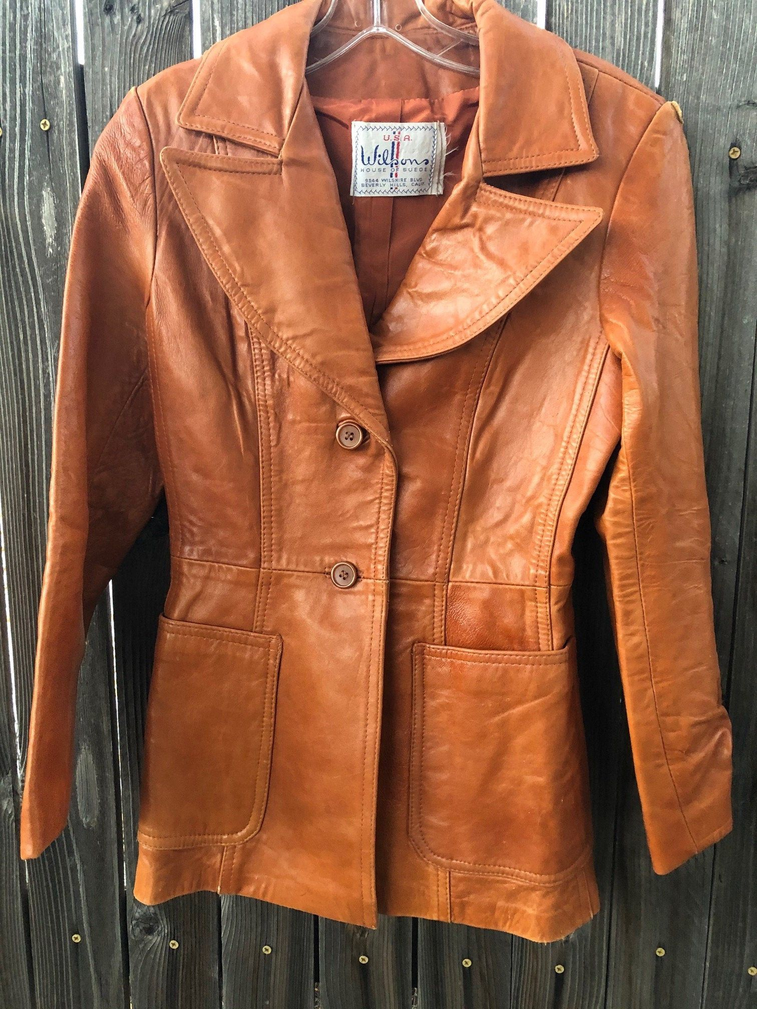 Vintage American Leather Jacket 1970s Light Brown Leather Etsy Leather Jacket American Leather Brown Leather Coat [ 2016 x 1512 Pixel ]