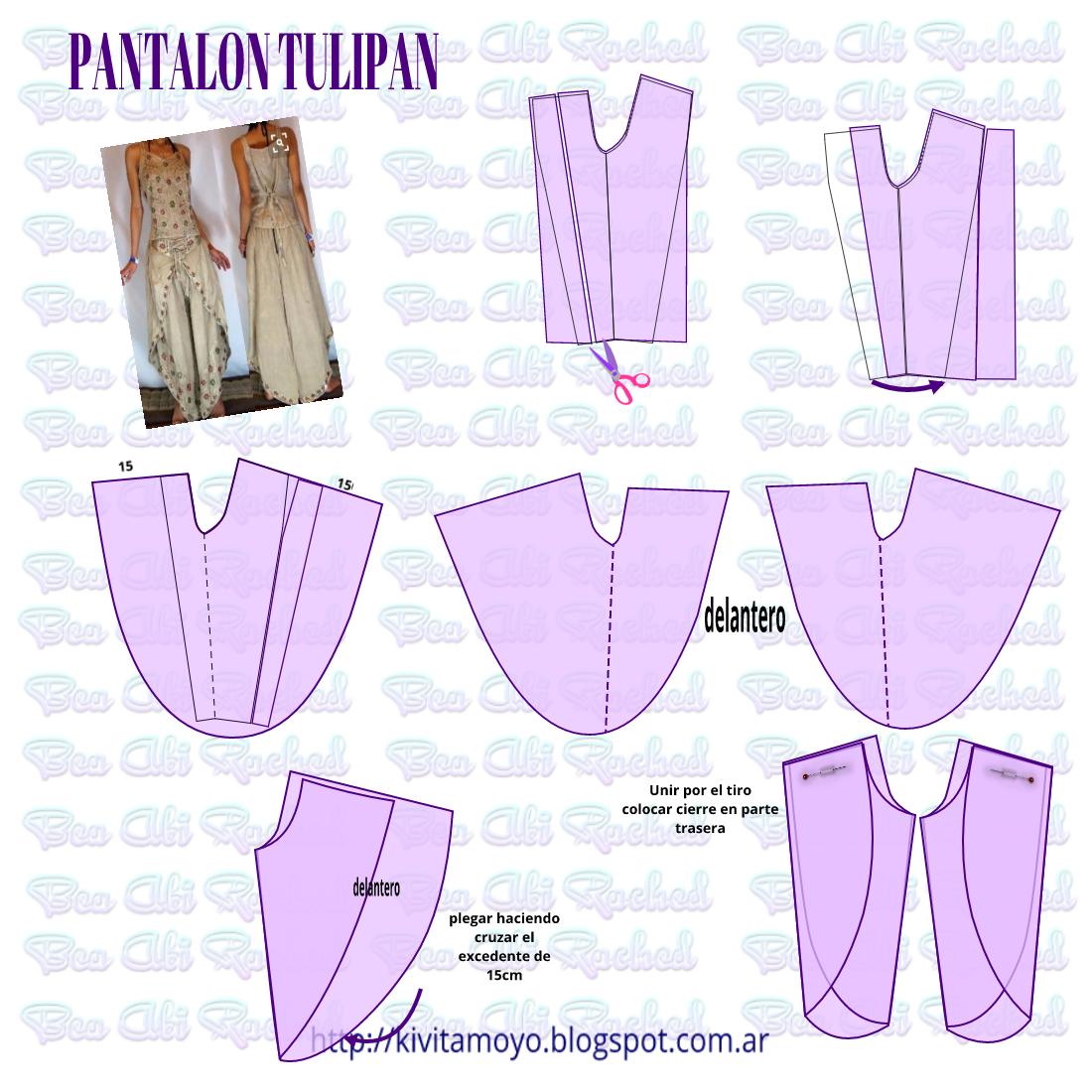 KiVita MoYo: Pantalon Tulipan | Patrones de vestidos | Pinterest ...