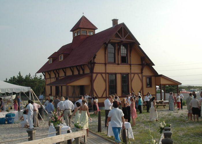 Wedding Day Set Up At Indian River Life Saving Station