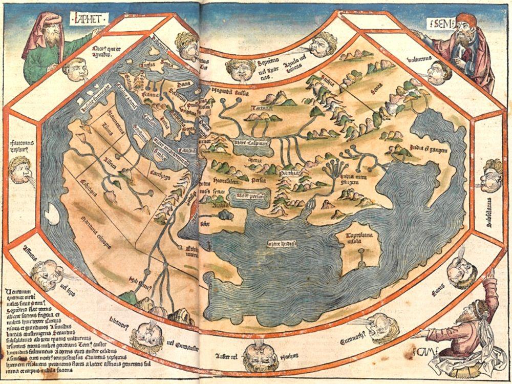 """segu   Lernplattform für Offenen Geschichtsunterricht   Modul: Ebstorfer Weltkarte: """"Verkehrte Welt"""" im Mittelalter?   Historische Karte"""