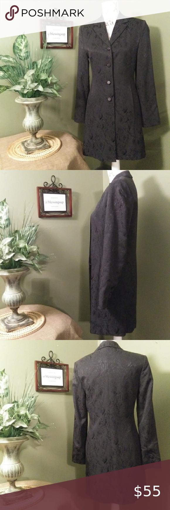 Vintage Klementi Black Jacket - Size EU36 Vintage