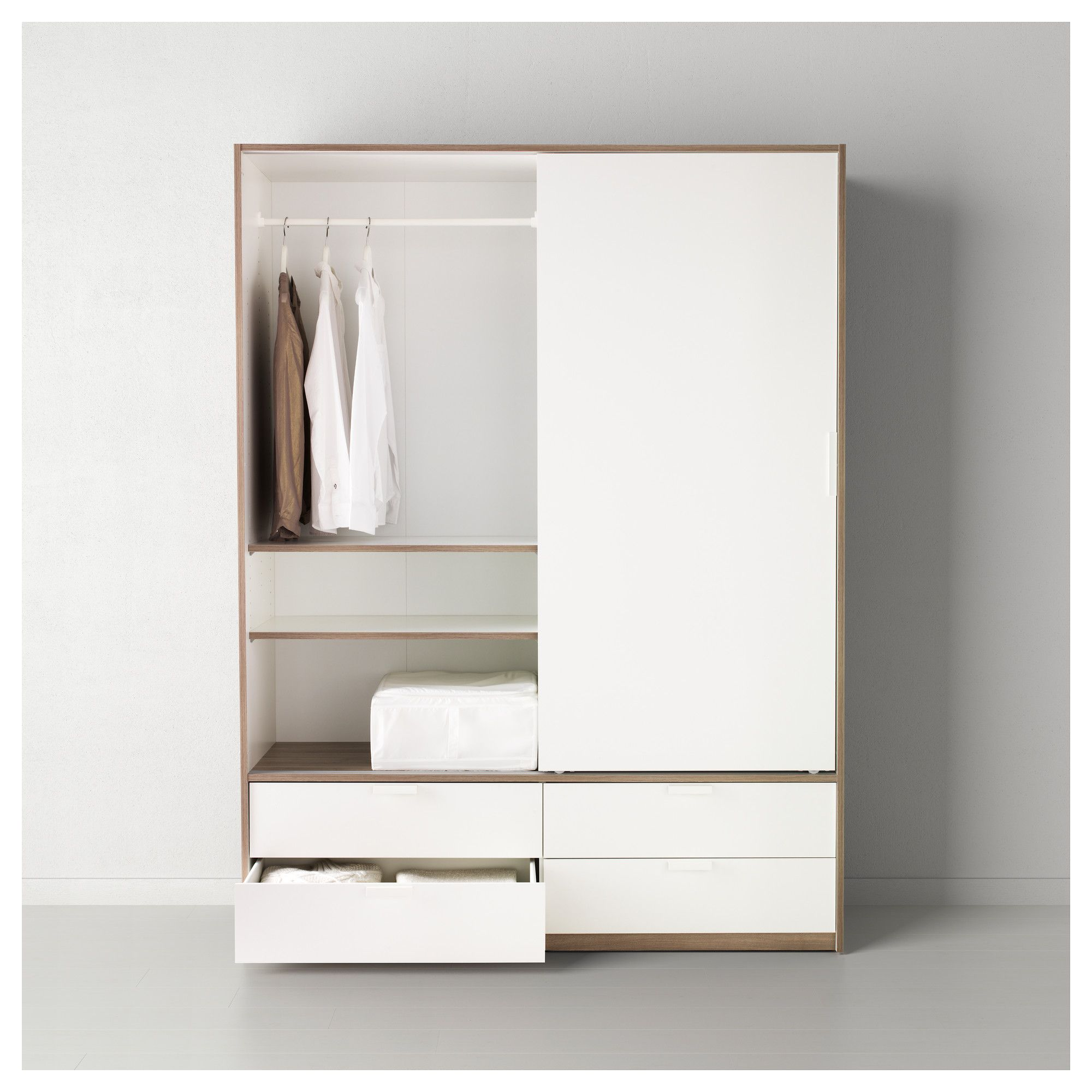 TRYSIL Wardrobe w sliding doors/4 drawers - IKEA   Closet/Dressing ...