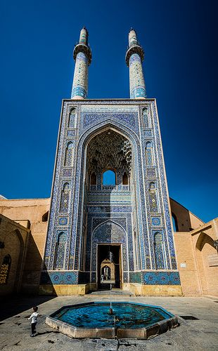 ˚The Grand Iwan of Jāmeh Mosque of Yazd - Iran