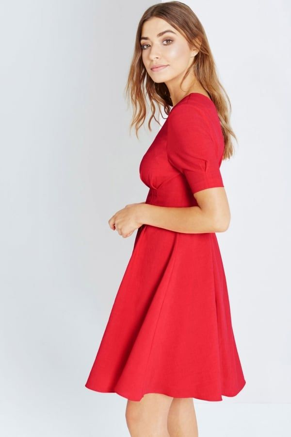 392c764573e Little Mistress Red Fit And Flare Midi Dress - Little Mistress from Little  Mistress UK