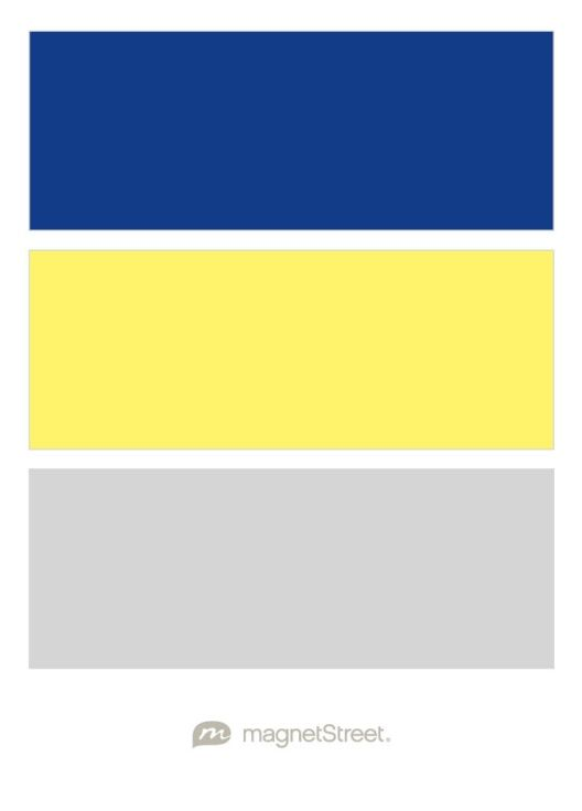 Cobalt Sunbeam And Silver Free Color Swatches Ordered At Magnetstreet