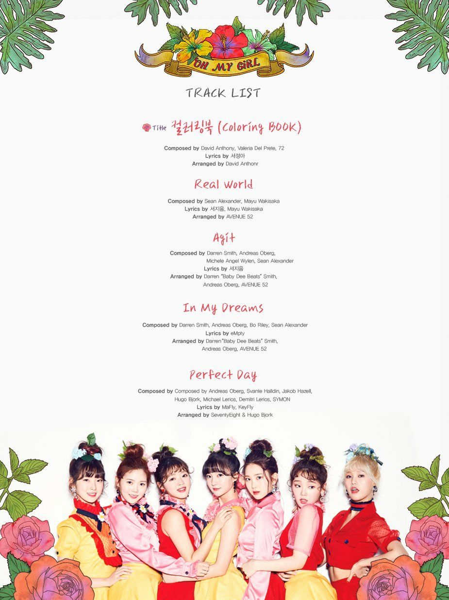 Coloring Book Track List Best Of Oh My Girl 4th Mini Album Coloring Book Tracklist Kpop Coloring Books Christmas Coloring Books Cat Coloring Book