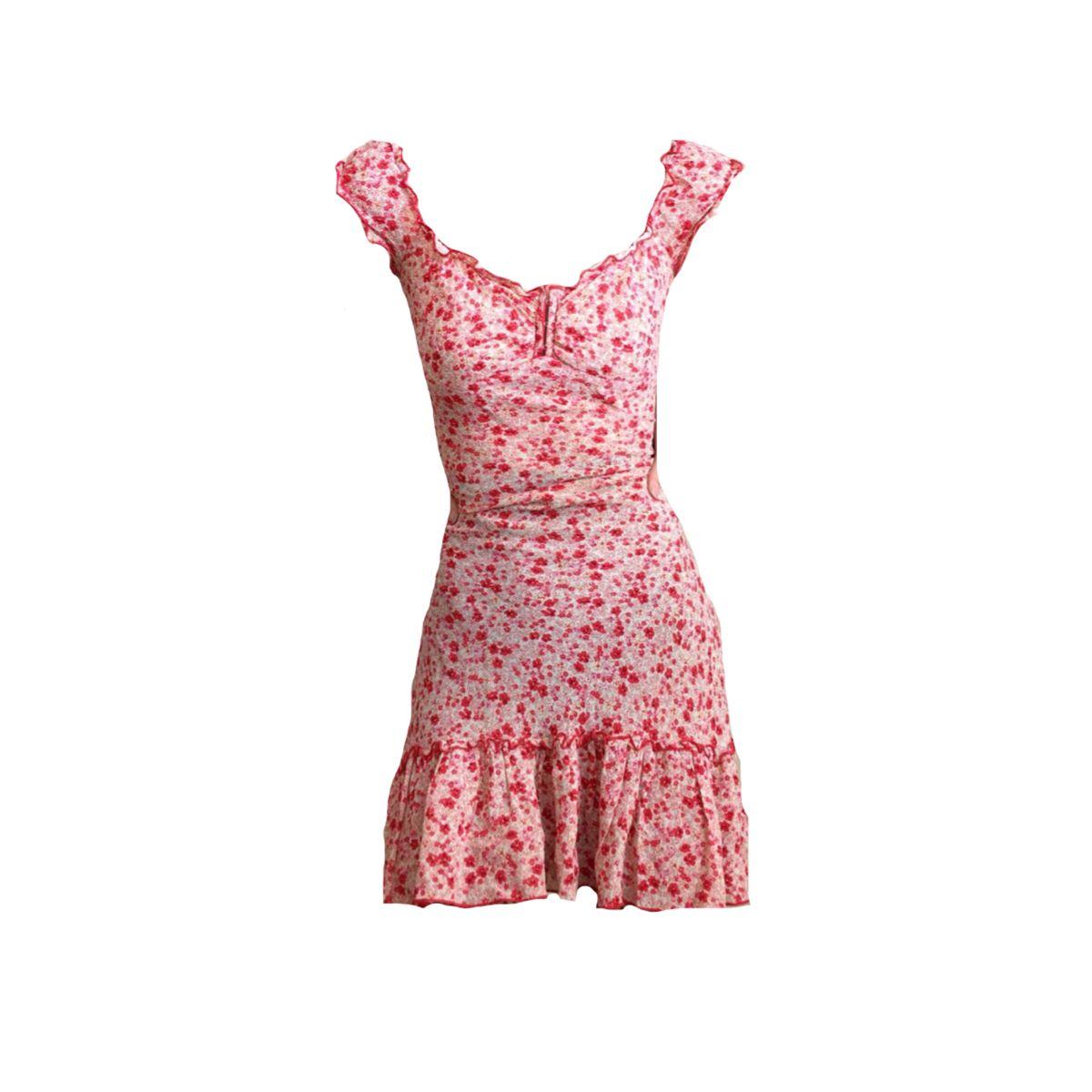 Png Polyvore Pngpolyvore Red Pink Floral Dress Png Polyvore Dress Png Outfits Dresses