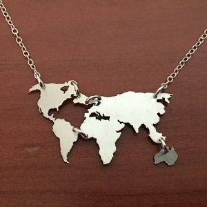 Free ship world map necklace earth day gift globe necklace free ship world map necklace earth day gift globe necklace world travel sterling silver earth jewelry world silhouette wanderlust gumiabroncs Image collections
