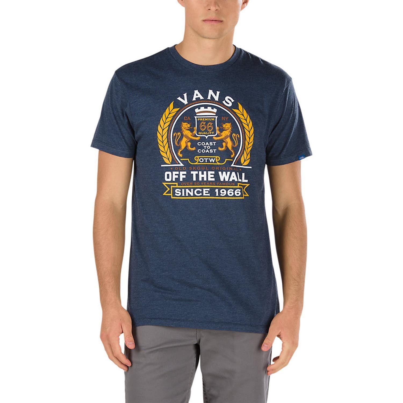 Vans Pop Top T Shirt Men Heather Navy 139e5z Mens Tshirts T Shirt Mens T