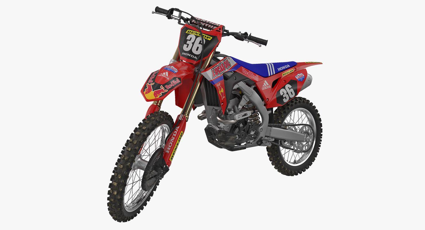 3d Motocross Bike Honda Crf250r 3d Bike Honda 3d Model Of Honda