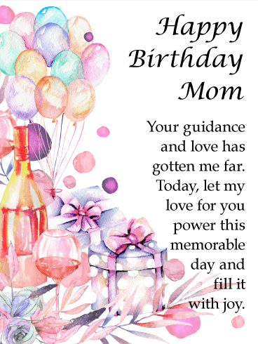 Water Paint Designed Happy Birthday Card For Mother Give Your This Beautiful Her Mom Has Been A Solid Presence In Life