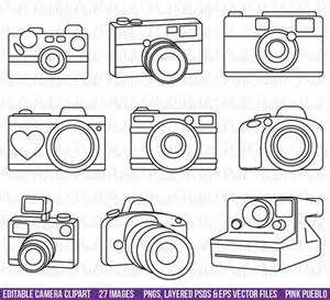 Camera Outline Clip Art Bing Images Kamera Zeichnung Illustrator