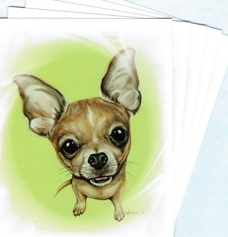 Dog Lover Painting Portrait Postcards