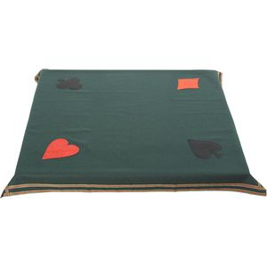 "Bridge / Poker Card Game Table Cloth - 34.5"" Square (Green)"