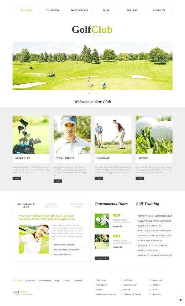 Golf Club WordPress Theme CMS & Blog Templates, WordPress Themes, Sports, Outdoors & Travel, Sport Templates, Golf Templates