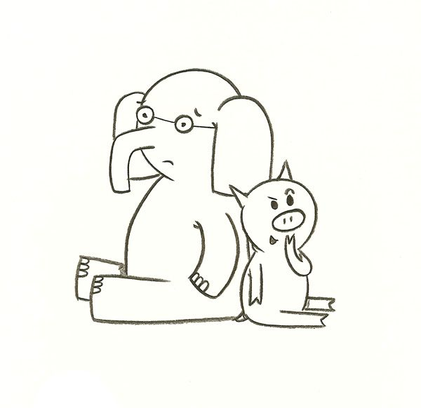 Mo Willems Elephant And Piggie Mo Willems Coloring Pages