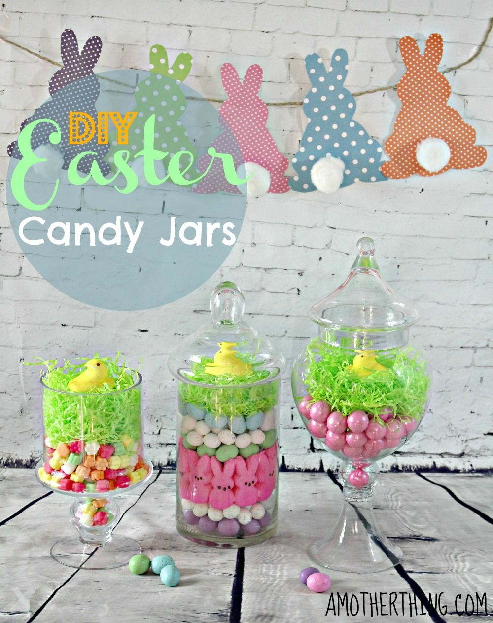 Candy Jar Decorations Diy Easter Candy Jar Centerpiece Craft  Easter Candy And Easter