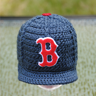 b9f51306e Boston Red Sox crocheted baseball cap | Crochet Hat Inspiration ...