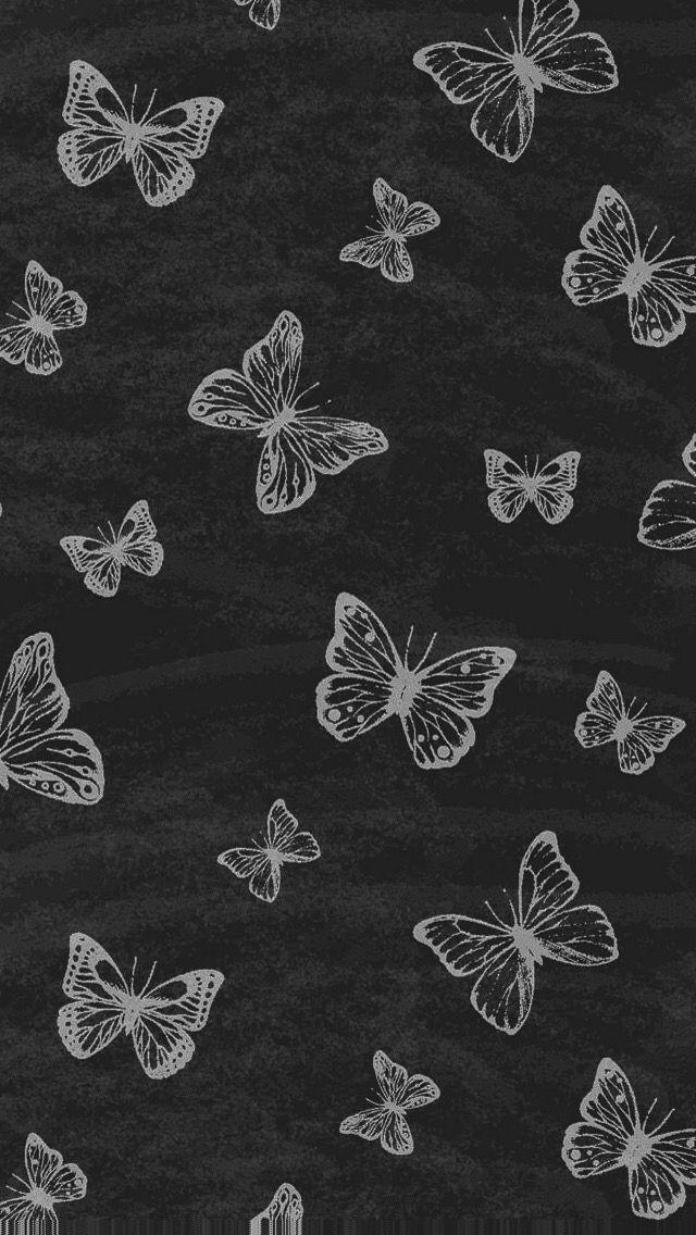 Butterfly Wallpaper Aesthetic Black