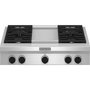 Kitchenaid Pro Style 36 Gas Cooktop Plus Griddle Stainless