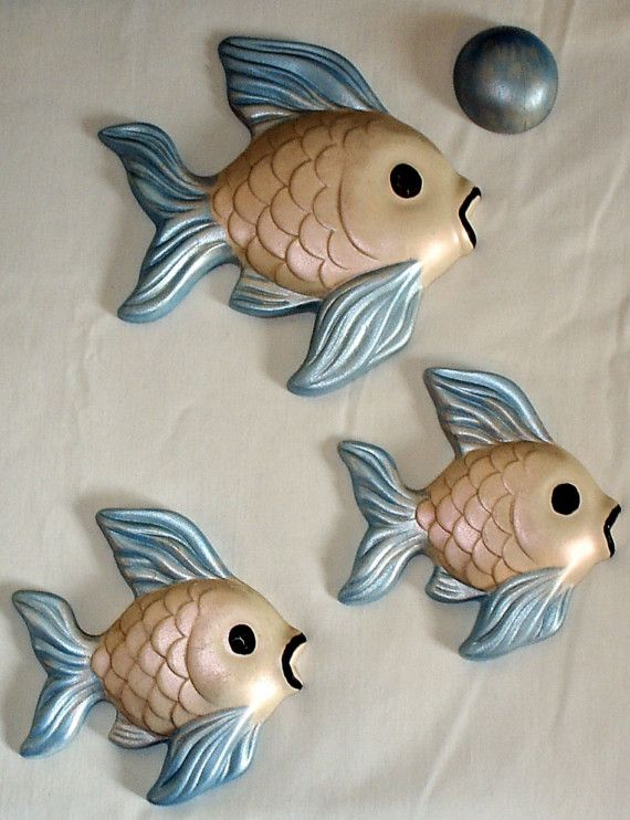 Vintage Ceramic Fish Bathroom Decor