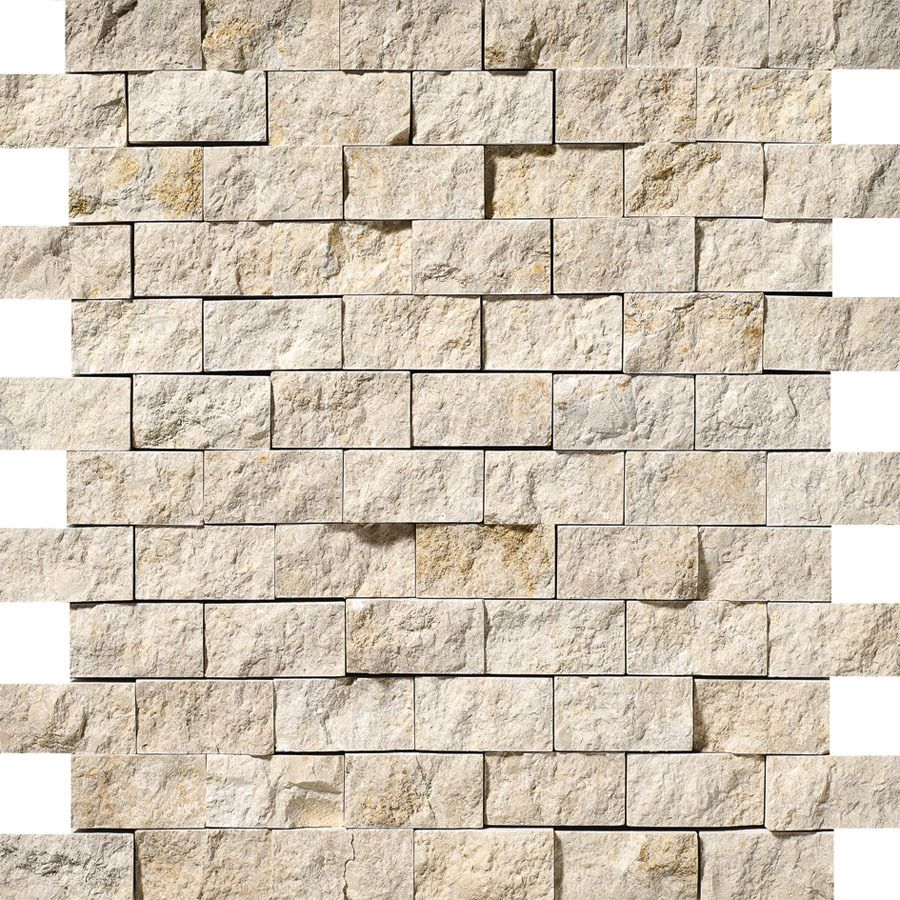 Bermar Natural Stone Shellstone Rock Face Limestone Floor And Wall Tile Common 12 In X 12 In Actual 11 7 Limestone Wall Limestone Wall Tiles Exterior Tiles