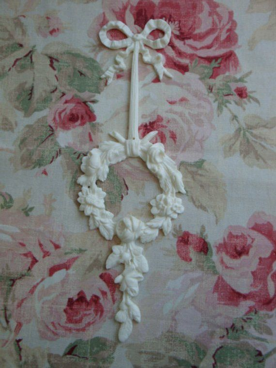 FLEXIBLE Rose Scroll Center Furniture Applique Architectural Trim New