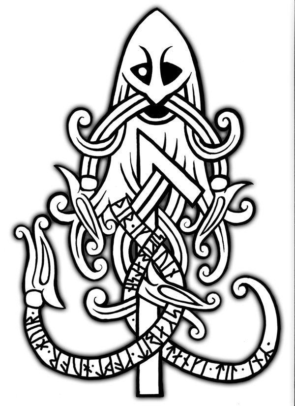 the mask of odin by sigrulfr on deviantart symbole pinterest wikinger tattoos symbole und. Black Bedroom Furniture Sets. Home Design Ideas