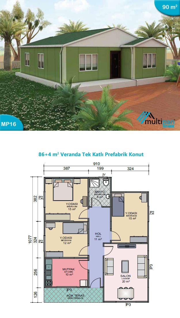 mp16 86m2 4m2 3 bedrooms 1 bathroom separate lounge kitchen veranda entrance hall 11m2. Black Bedroom Furniture Sets. Home Design Ideas
