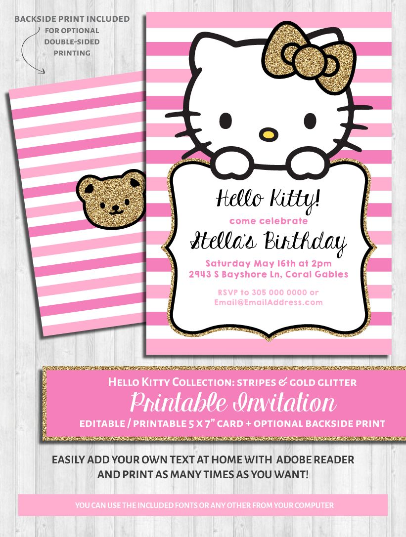 Invitation Hello Kitty Tunu Redmini Co Inside Hello Kitty Birthday Banner Te Hello Kitty Baby Shower Hello Kitty Invitations Hello Kitty Birthday Invitations