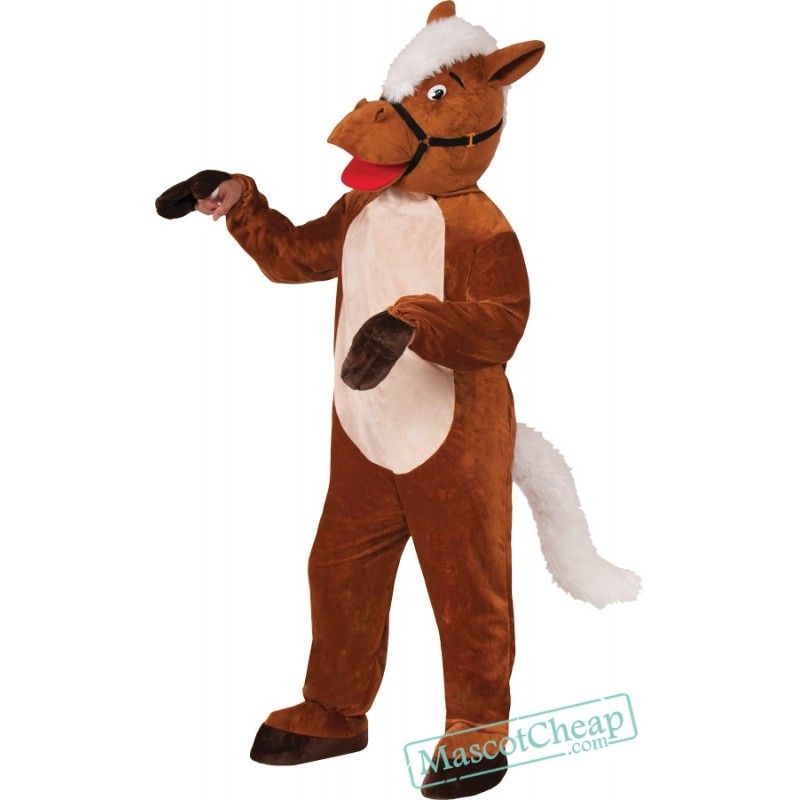 Mask /& Body Unisex Adult Halloween Fancy Animal Mascot Horse Costume Outfit