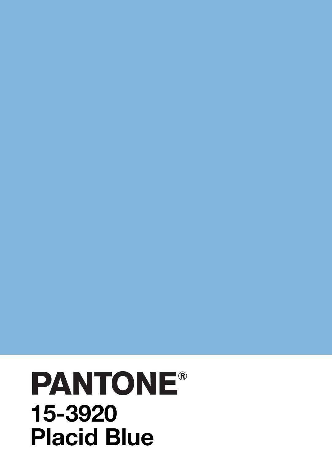 Pantone Placid Blue Compare With Cornflower And Serenity
