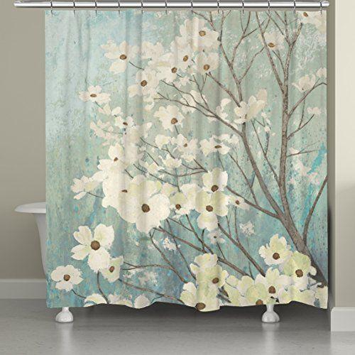 "Laural Home Dogwood Blossoms Shower Curtain, 71 x 74"" Laural Home http://www.amazon.com/dp/B00YCFVYNQ/ref=cm_sw_r_pi_dp_yMZCwb01R1H60"