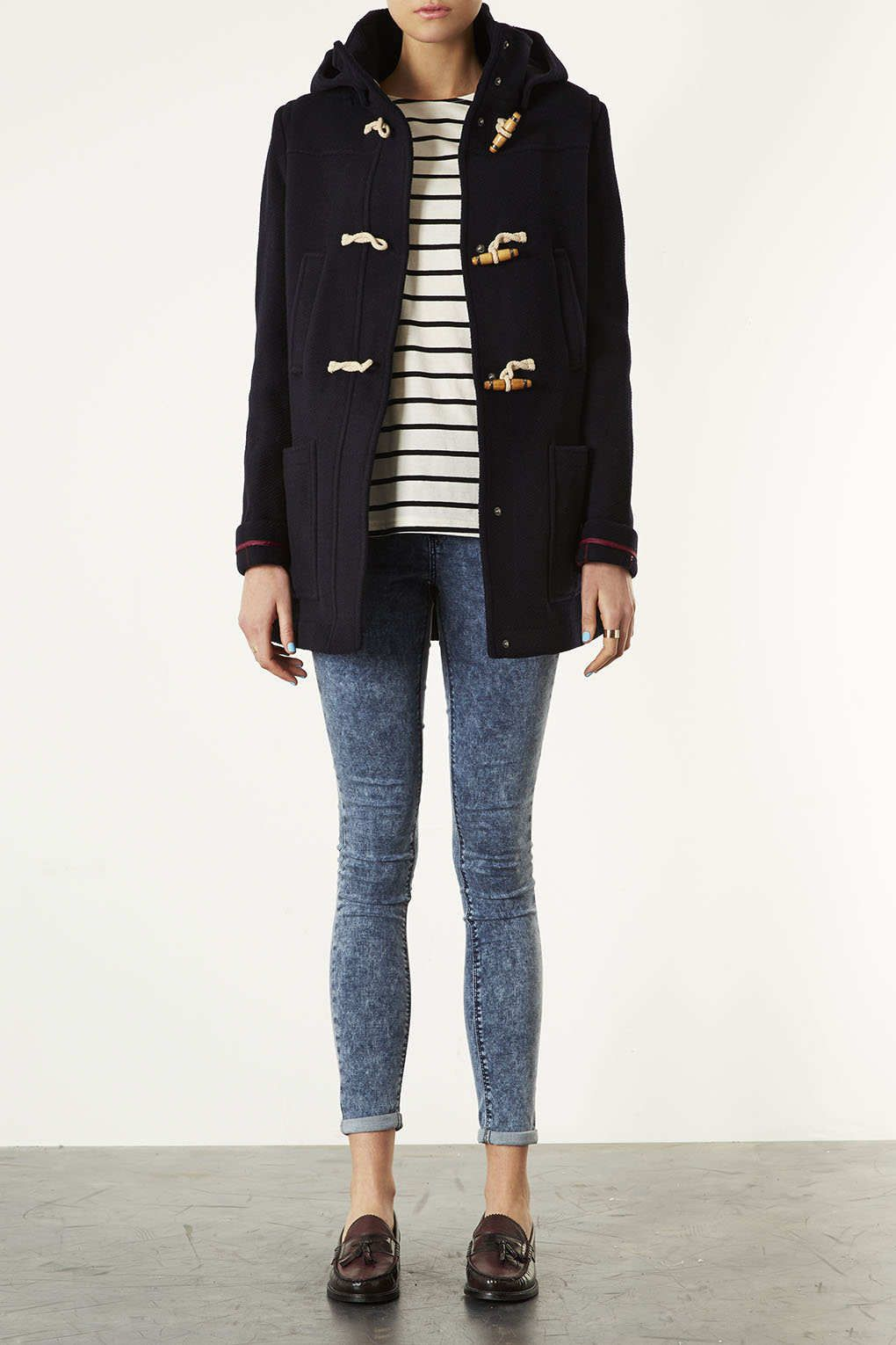 Wool Hooded Duffle Coat from Topshop | Fashion | Pinterest ...