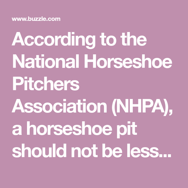 Horseshoe Pit Dimensions | Horseshoe pit, Horseshoe pit ...